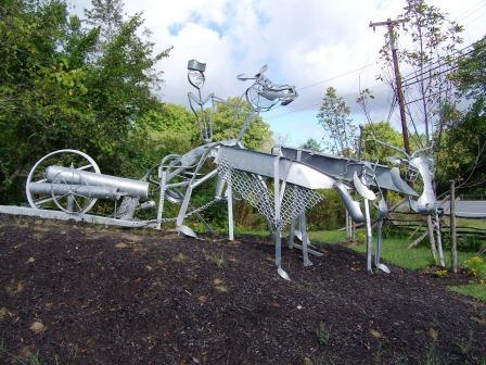 metal sculpture, General Knox Revolutionary war