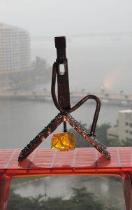 Sculpture called Light Worker in Miami Florida Art Fair