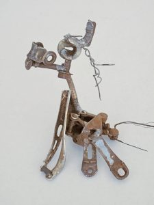 metal sculpture small welded horse