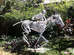horse made from car parts