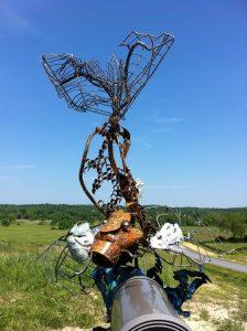 Koi Fish metal sculpture- Custom fish Mailbox