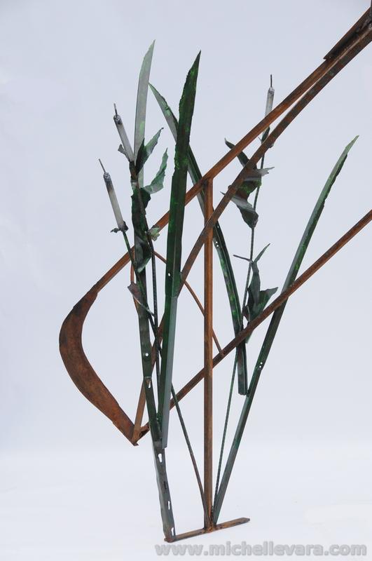 Metal sculpture Adirondack Hisory
