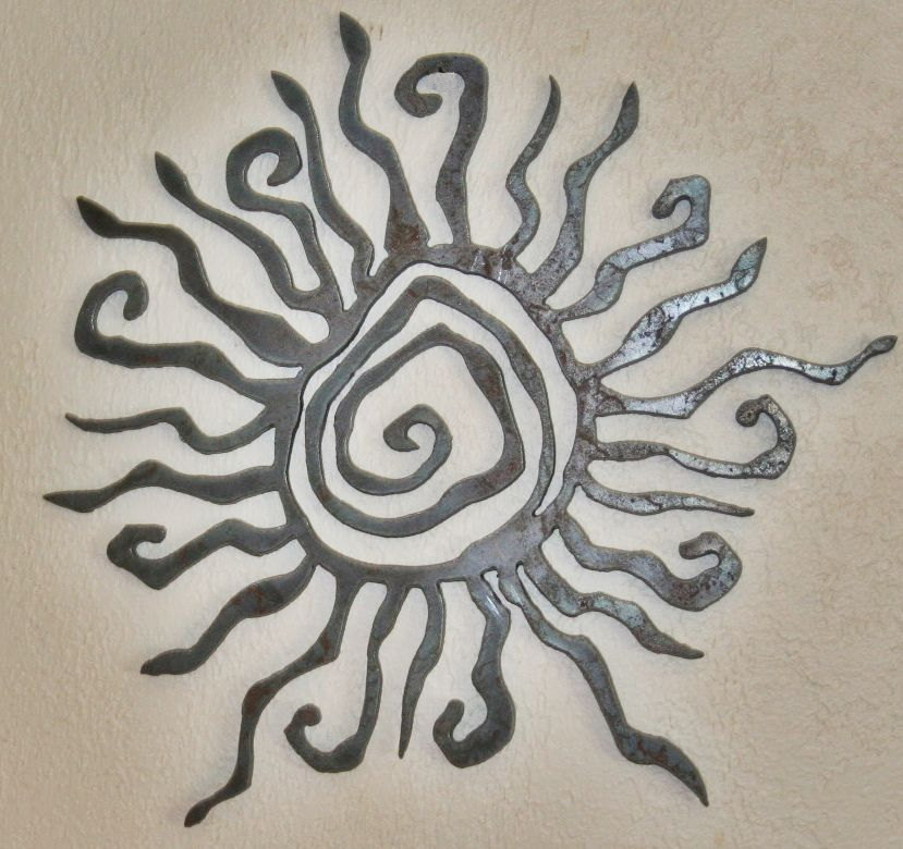 Sun metal wall hanging