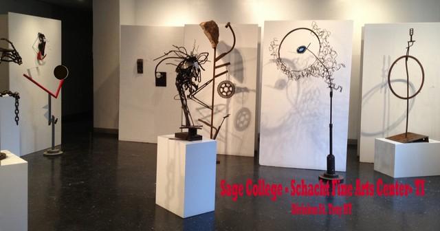 metal sculpture and paint of michelle vara Ballard Road art Studio