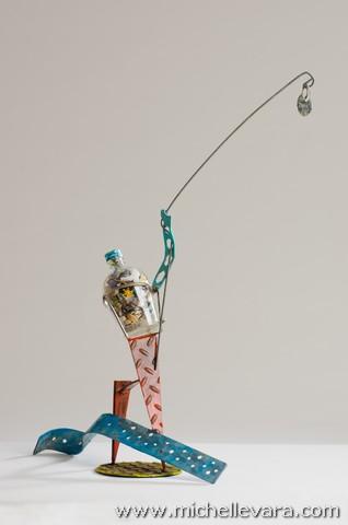 metal sculpture, reclaimed, re purposed art, sculpture, Jersey shore, Sculpture, Sandy, storm, Beach residents