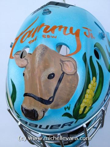 Hand Painted Goalie Helmet
