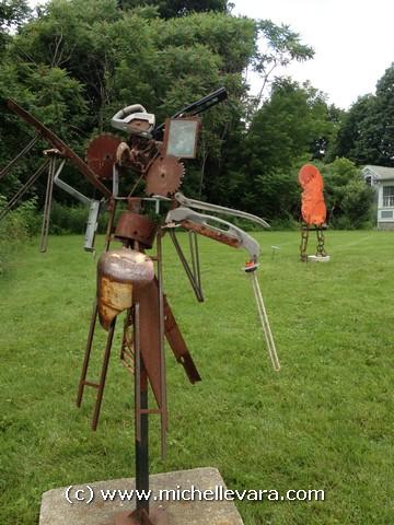 Sculpture Murphy and Plastishu 1 on the North Bennington VT show 2013
