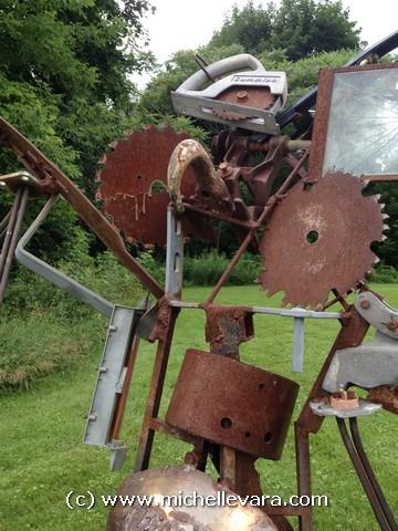 metal Sculpture Murphy and Plastishu 1 on the North Bennington VT show 2013