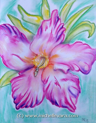 Artist miChelle Vara uses pastel to create WildFlowers