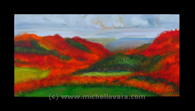Landscape painting, Oil on canvas, Landscapes of NY, michelle vara