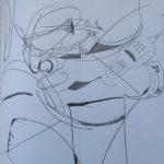 michelle vara, ballard road art,pencil drawing, cleveland clinic oh, art, famous artist, metal sculpture,