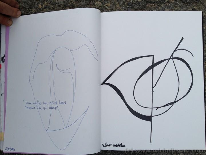 skidmore college, michelle vara, Traveling sketchbook, Ballard Road Art Studio, Saratoga NY