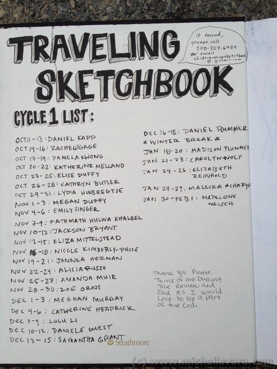 Skidmore college, traveling sketchjbook, saratoga NY, Ballard Road art studio,