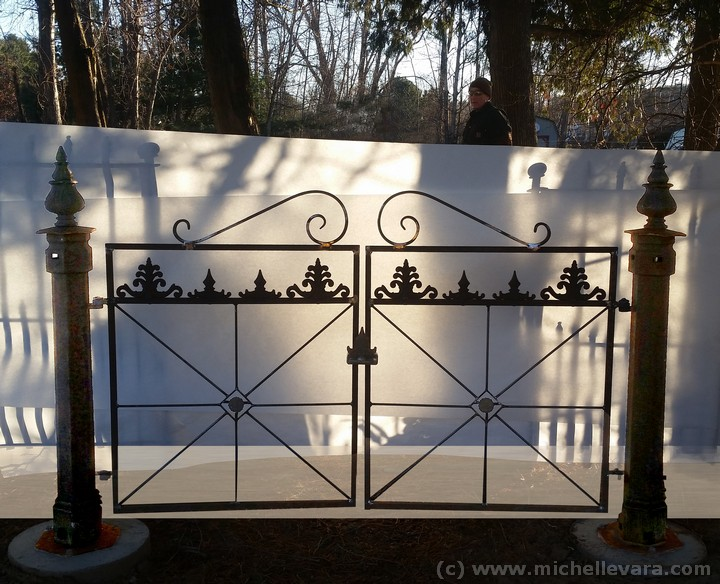 Metal gate restoration, Ballard Road art Studio Wilton NY, C&C Specialty Iron