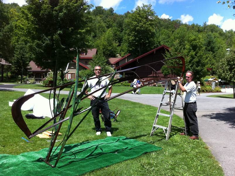 "Installation: ""The Guide"" meal sculpture for Adirondack Museum"