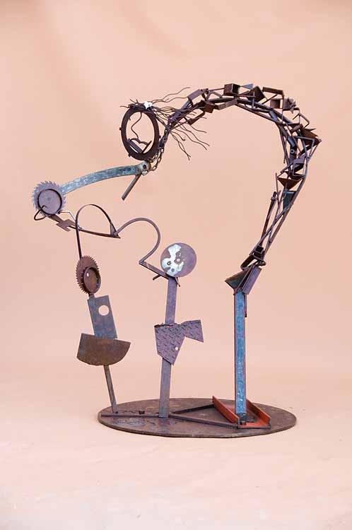 Metal sculpture for Violence Awareness Project