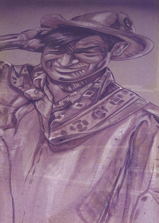 John Wayne  painted