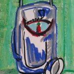 no. 351_Cosmopolitan Meeting Oil Pastel-