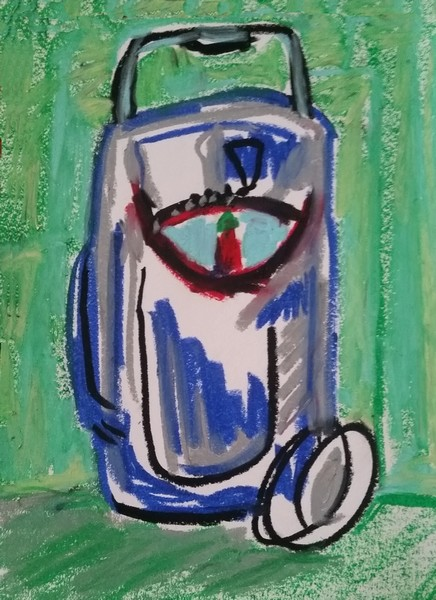 no. 351_Cosmopolitan Meeting Oil Pastel-