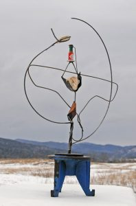 Sculpture no. 351_Cosmopolitan Meeting -Sauce- Wood- Rock- Rock The Joys of finding- Did I find you or did you find me? Book, mixed media Sculpture,