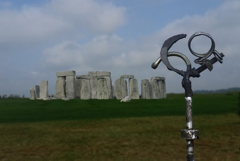 Sculpture Embryo at Stonehenge England