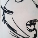 Oil pastel on paper.