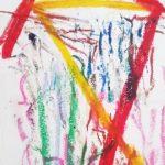2-15-18 -25 Oil pastel on paper.