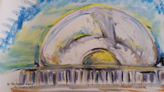 Cloud Gate _The Bean_ Drawing from trip to Chicago IL