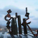 #posit, #art, #ClevelandClinicRooftop, #sculpture, #art, #michellevara, #decolonization, #OilDrawing, #Ohio, #ClevelandClinicArt,