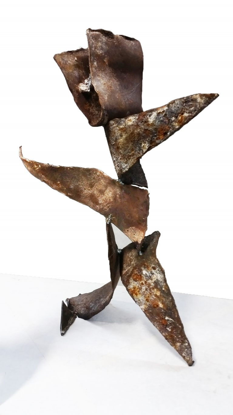 Metal Sculpture Torn by Michelle Vara