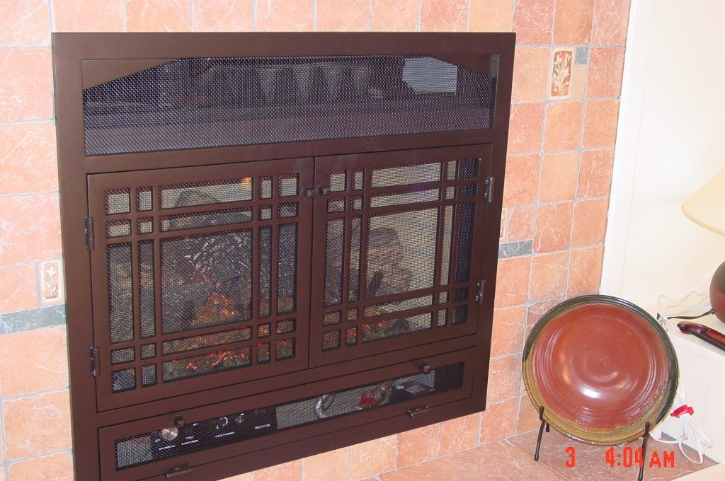 Custom Made Fire Screen, Fire Insert