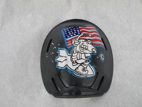 Pilot helmet Airbrush and letter custom helmets