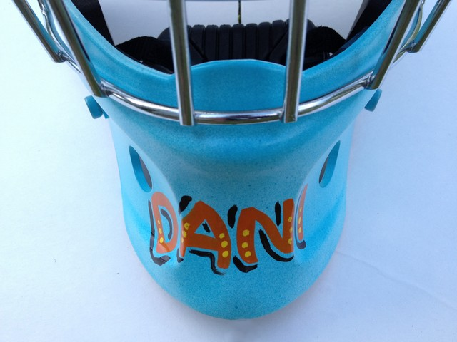 Airbrush and letter custom helmets