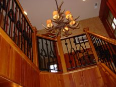 J michaels Builders handrail- Pine trees