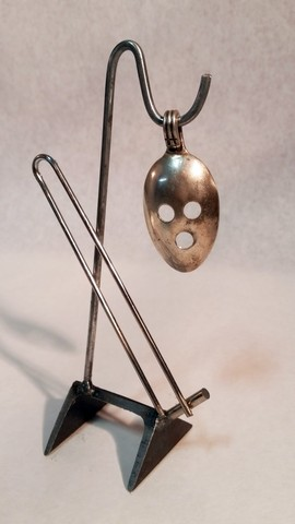 No. 758_ Sun & Moon _metals welded with enamel paint accents. Sculpture that wears like Jewelry.