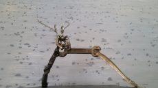 Dancermade from reclaimed metal