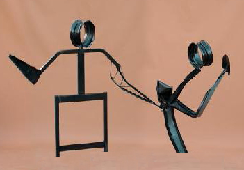 Volta del Gioioso dancing couple sculpture