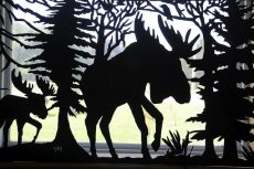 Moose panel, metal cutout