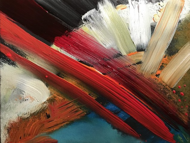 Abstract oil painting by M ichelle Vara