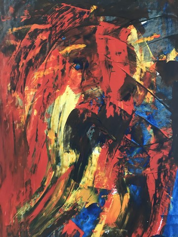 Tyranny of Data, art, painting, Abstract expreshion by artist Michelle Vara