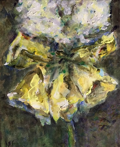 Flower Pictures Painted by Michelle Vara with oil on canvas.